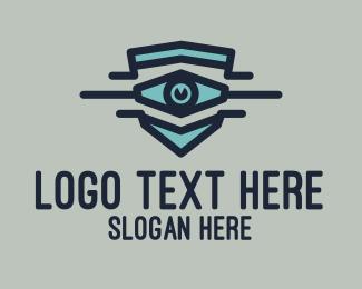 Security - Blue Eye Crest  logo design