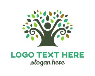 Retreat - Spiral Tree logo design