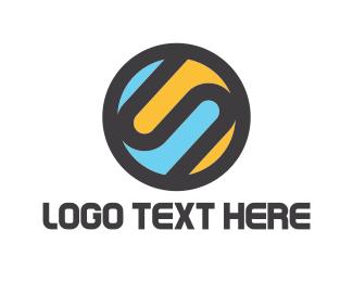 Interlace - Letter S Circle logo design