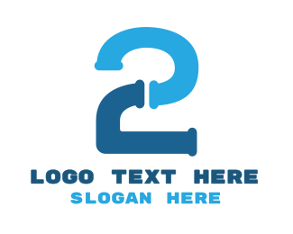 Toilet - Blue Two Pipe logo design