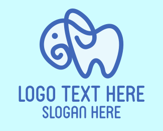 Babysitter - Blue Cute Elephant logo design