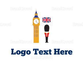 England - London Tour logo design