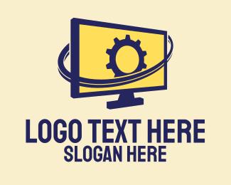 Monitor - Professional Computer Repair logo design