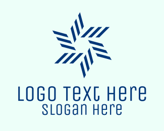 Boat Repair - Geometric Blue Propeller  logo design