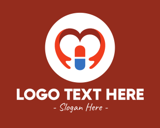 Medical Care - Medical Drugstore Heart logo design