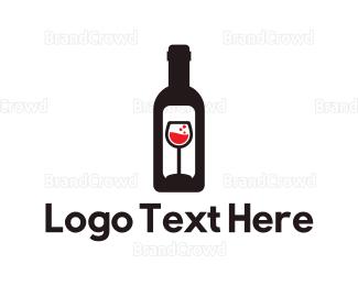 Barcelona - Wine Bottle Label logo design