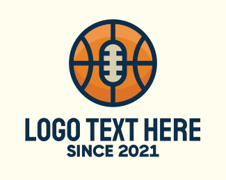 League - Basketball Sport Podcast Radio logo design