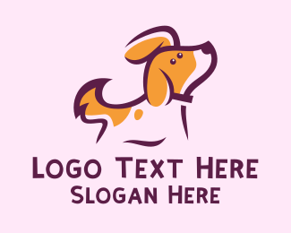 Sleepy - Cute Dotted Puppy logo design