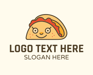 Taco Truck - Happy Mexican Taco logo design
