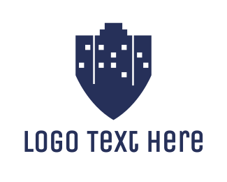 Law Enforcer - Blue City Shield logo design