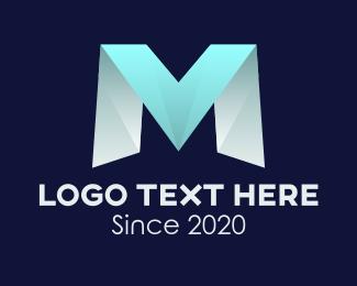 Vm - Modern Gradient VM logo design