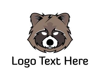 Raccoon - Raccoon Head logo design