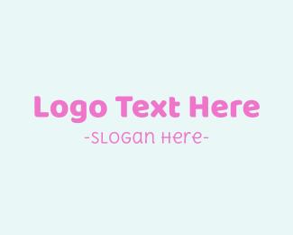 Pregnancy - Baby Girl Text Font logo design