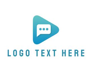 Youtube - Chat Play Media YouTube logo design