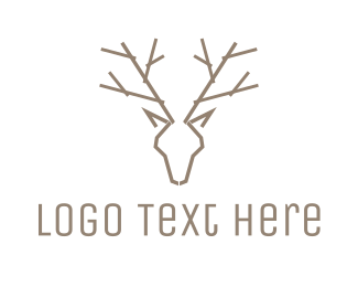 Design - Minimalist Deer Antlers logo design