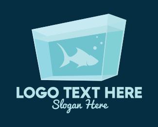 Fish Aquarium - Blue Fish Aquarium logo design