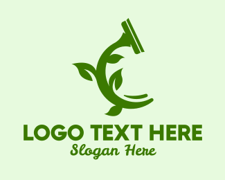Squeegee - Eco Friendly Squeegee logo design
