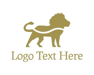Golden - Golden Lion logo design