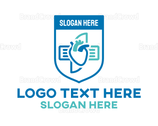 Cardiology - Cardiovascular Shield logo design