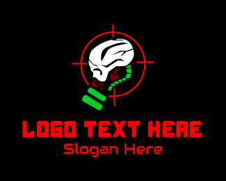 Target Range - Skull Video Game Esport logo design