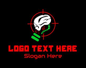 Esport - Skull Video Game Esport logo design