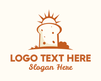 Yummy - Sunny Bread Slice logo design