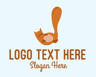 Kitty - Playful Cat Letter J logo design