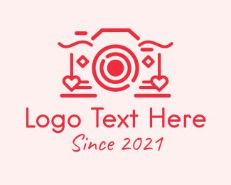 Valentines Day - Red Valentine Camera logo design