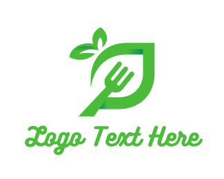 Vegetable - Green Fork  logo design