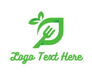 Vegetarian - Green Fork  logo design