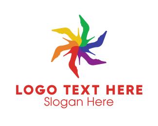 Shoe - Shoe Flower logo design