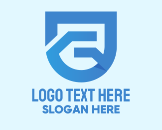 Online Security - Blue Shield Letter G  logo design