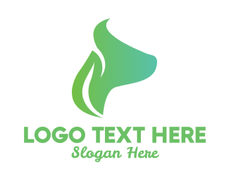 Pet Food - Leaf Dog Face  logo design