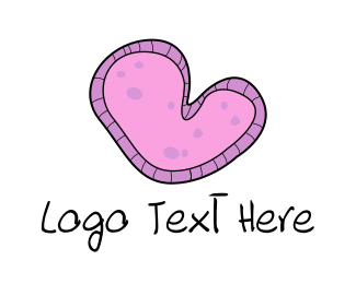 Microscope - Amoeba Heart logo design