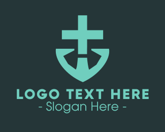 Sacramental - Doctor's Medical Cross Anchor logo design