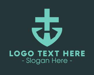 Doctor - Doctor's Medical Cross Anchor logo design