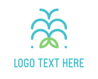 Fountain - Water Fountain logo design