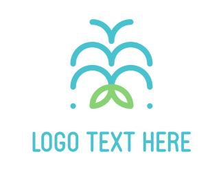 Retreat - Water Fountain logo design