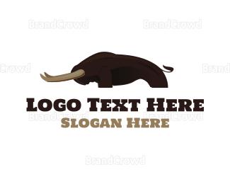 Cowboy - Strong Bison logo design