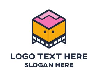 Channel - Box Robot logo design