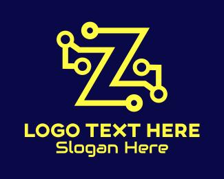 Web Host - Tech Letter Z logo design