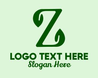 Herbs - Natural Eco Letter Z logo design