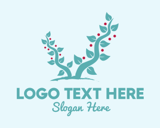 Berries - Forest Berry Tree logo design