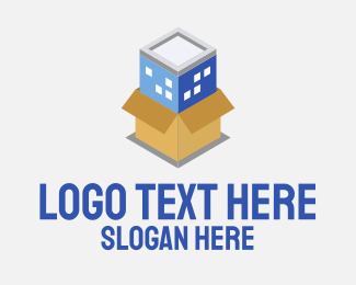 Logistic Service - 3D Building Storage Box logo design