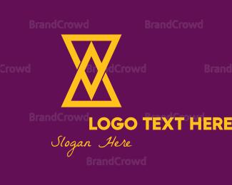 Build - Hourglass logo design