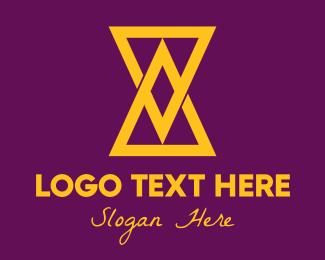 Hourglass - Golden Triangle Hourglass logo design