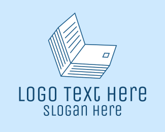 Technology - Online Class Book logo design