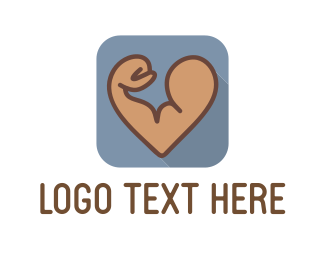 Muscle - Strong Biceps logo design