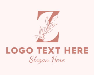 Aesthetics - Elegant Leaves Letter Z logo design