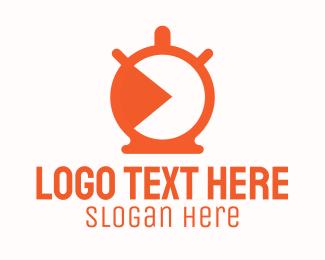 Countdown - Orange Stopwatch Timer logo design